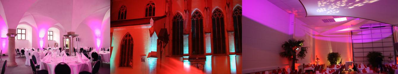 Beleuchtung günstig mieten bei Die Event Experten